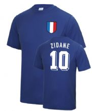 Zinedine Zidane France World Cup Football T Shirt